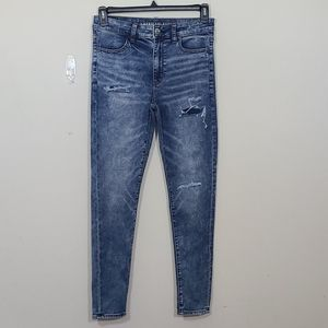 American Eagle Outfitters High Rise Blue Jeggings